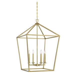 Townsend Warm Brass Six-Light Pendant