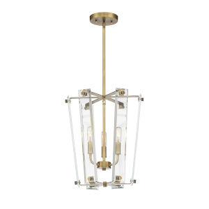 Everett Warm Brass Three-Light Pendant
