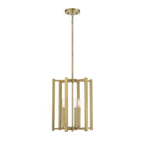 Benson Warm Brass Three-Light Pendant