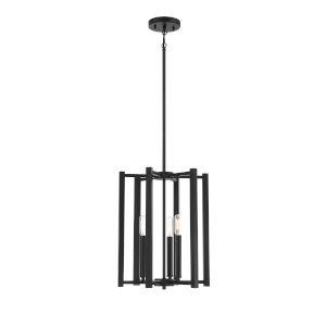 Benson Matte Black Three-Light Pendant