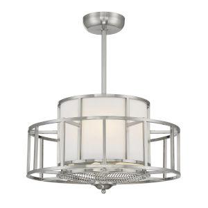 Oslo Satin Nickel Four-Light LED Fandelier