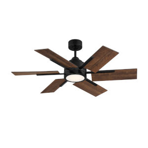 Farmhouse II Matte Black 44-Inch LED Ceiling Fan