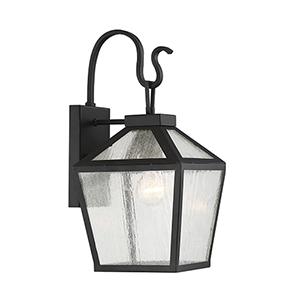 Woodstock Black One-Light Outdoor Wall Lantern