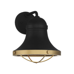 Belmont Textured Black and Warm Brass One-Light Wall Sconce