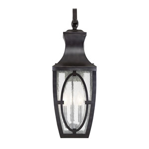 Shelton English Bronze and Gold Three-Light Outdoor Wall Sconce