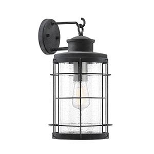 Fletcher Oxidized Black One-Light Outdoor Wall Lantern