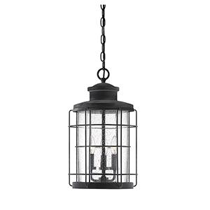 Fletcher Oxidized Black Three-Light Outdoor Hanging Lantern