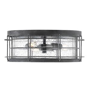 Fletcher Oxidized Black Three-Light Outdoor Flush Mount