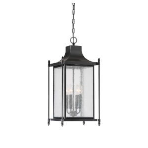 Dunnmore Black Four-Light Outdoor Hanging Lantern