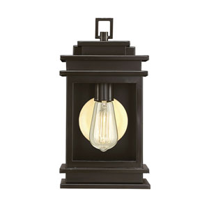 Reading English Bronze 13-Inch One-Light Outdoor Wall Sconce