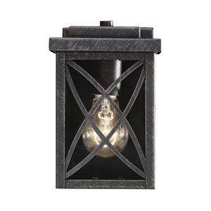Norwalk Brushed Bronze 7-Inch One-Light Outdoor Wall Sconce