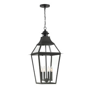 Jackson Black and Gold Highlighted Four-Light Outdoor Pendant