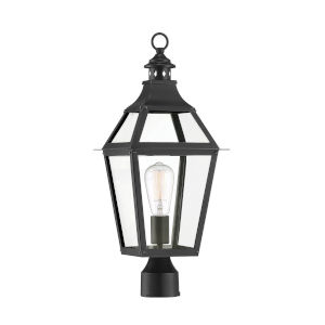 Jackson Black and Gold Highlighted One-Light Outdoor Post Lantern