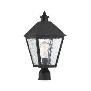 Harrison Matte Black One-Light Outdoor Post Lantern