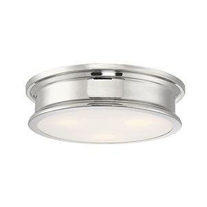 Watki Polished Nickel Three-Light Flush Mount