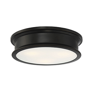 Watki Classice Bronze Three-Light Flush Mount