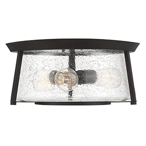 Dash English Bronze Three-Light Flush Mount