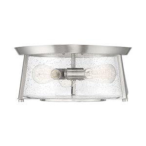 Dash Satin Nickel Three-Light Flush Mount