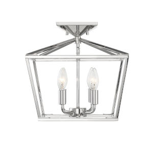 Townsend Polished Nickel Four-Light Semi-Flush