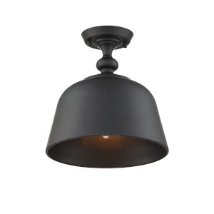 Berg Matte Black One-Light Semi-Flush Mount