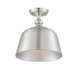 Berg Satin Nickel One-Light Semi-Flush Mount