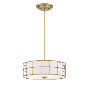 Hayden Warm Brass Three-Light Convertible Pendant