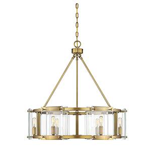 Prescott Warm Brass Six-Light Pendant