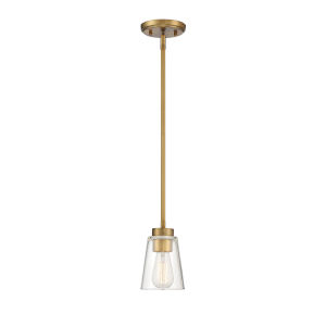 Calhoun Warm Brass One-Light Small Mini Pendant