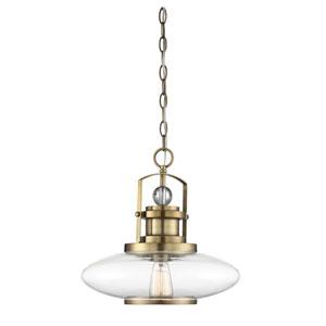 Mayfield Warm Brass One-Light Pendant