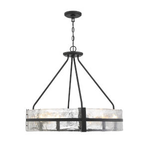 Hudson Matte Black Eight-Light Pendant