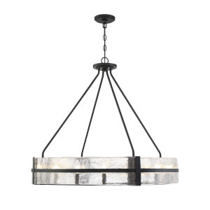 Hudson Matte Black 12-Light Pendant