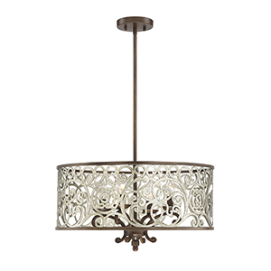 Erhardt Monaco Four-Light Pendant