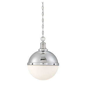 Lilly Polished Nickel Two-Light Pendant