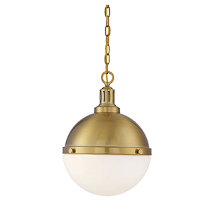 Lilly Warm Brass Two-Light Pendant