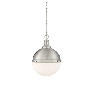 Lilly Satin Nickel Two-Light Pendant
