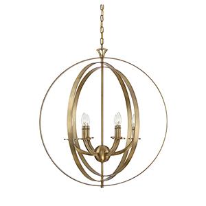 Dumont Warm Brass Six-Light Pendant