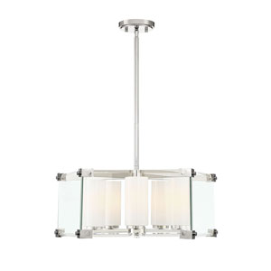 Ridgefield Polished Nickel 24-Inch Five-Light Pendant