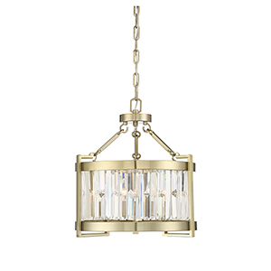 Cologne Noble Brass Three-Light Pendant