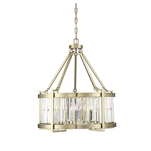 Cologne Noble Brass Five-Light Pendant