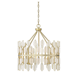 Royale Noble Brass Five-Light Pendant