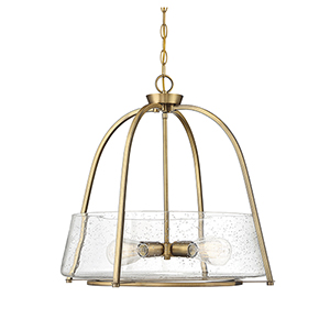 Dash Warm Brass Four-Light Pendant