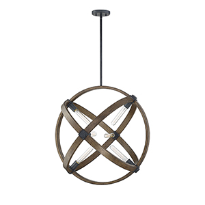 Buckley Whiskey Wood Six-Light Pendant
