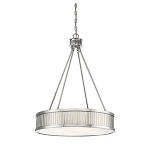 William Polished Nickel Four-Light Pendant