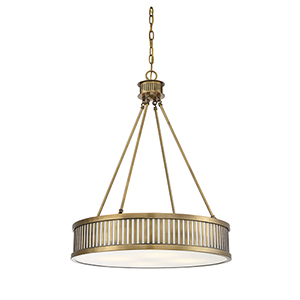 William Warm Brass Four-Light Pendant