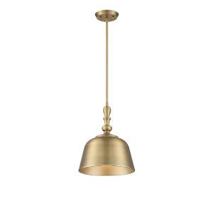 Berg Warm Brass One-Light Pendant