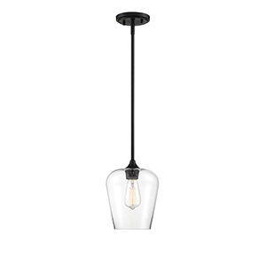 Octav Black One-Light Mini Pendant