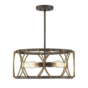 Keating Artisan Rust Five-Light Pendant