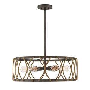 Keating Artisan Rust Six-Light Pendant