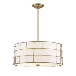 Hayden Warm Brass Five-Light Pendant