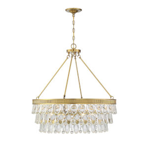 Windham Warm Brass Six-Light Pendant